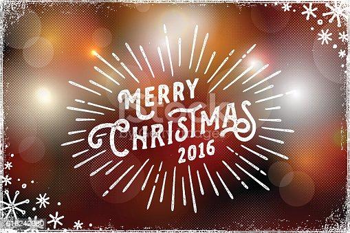 Christmas Photo Overlay with Bokeh Lights Background