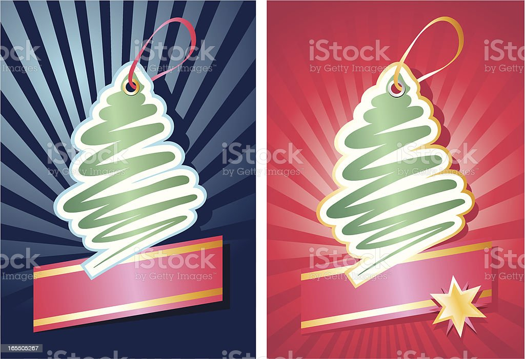 Christmas picture-cards. royalty-free stock vector art