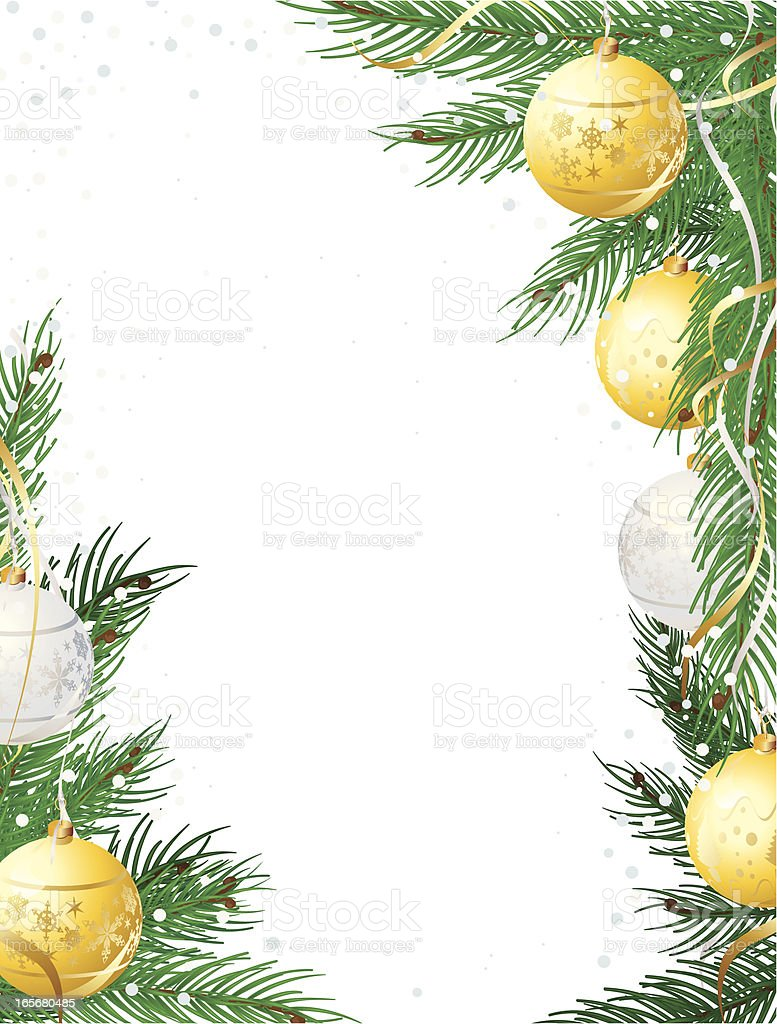 Christmas Pine and Bauble Vertical frame royalty-free christmas pine and bauble vertical frame stock vector art & more images of abstract