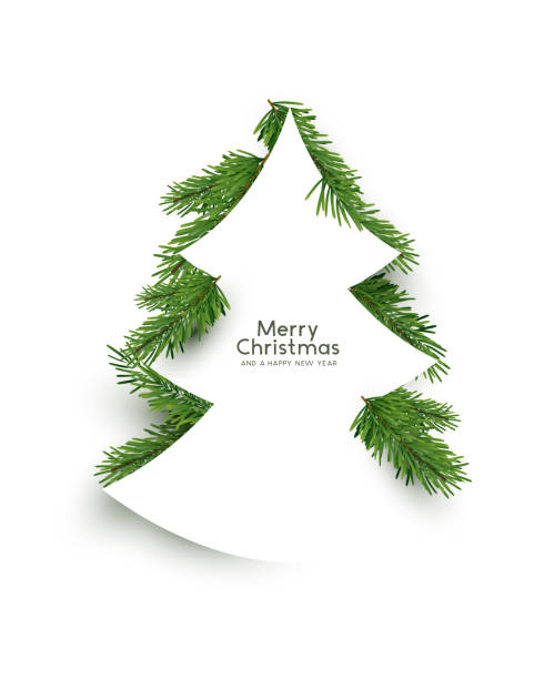Weihnachtsbaum-Form-Konzept – Vektorgrafik