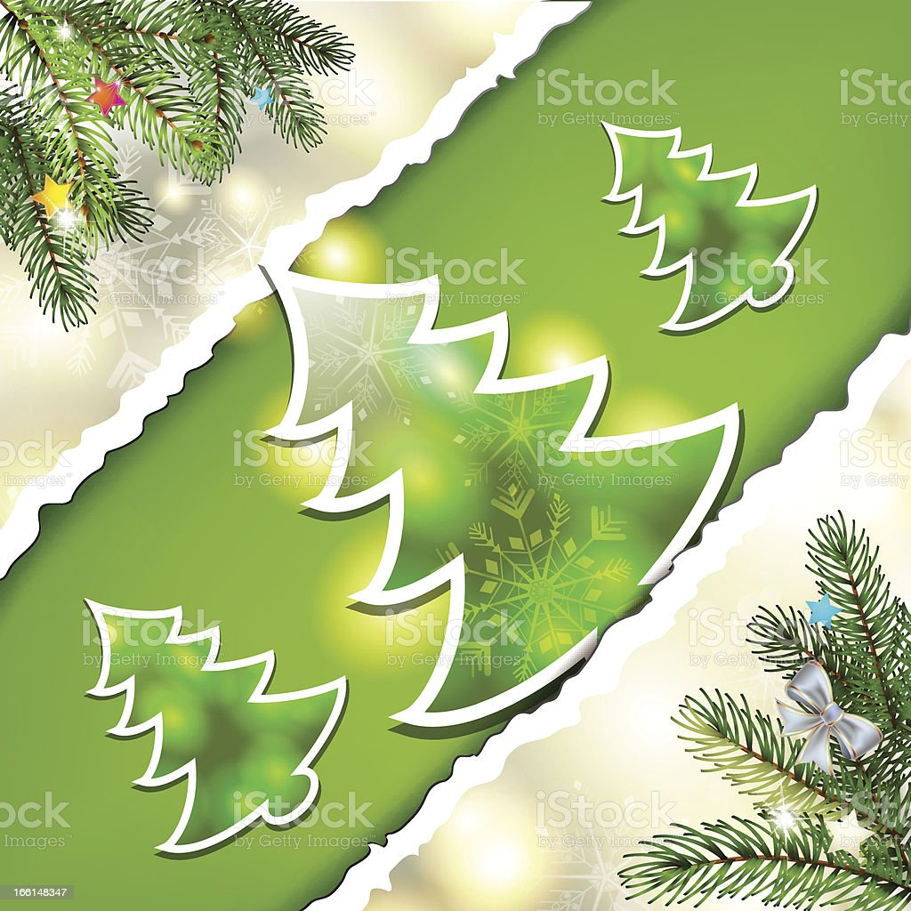 Christmas pine tree royalty-free stock vector art