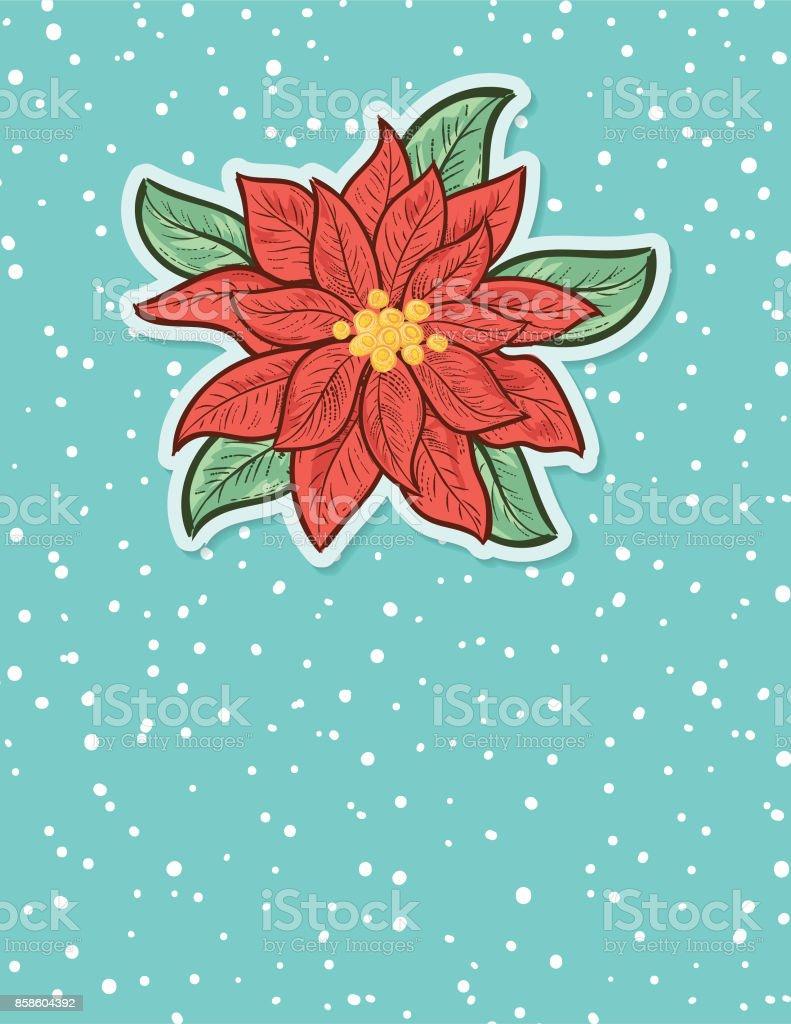 Weihnachten Weihnachtsstern Hintergrund Stock Vektor Art und mehr ...