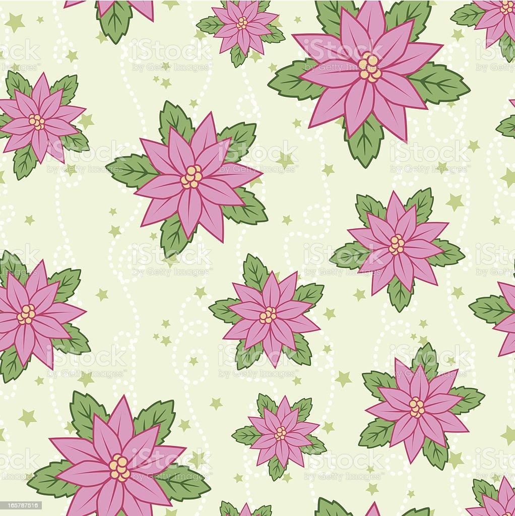 Christmas Poinsettia Pattern royalty-free stock vector art