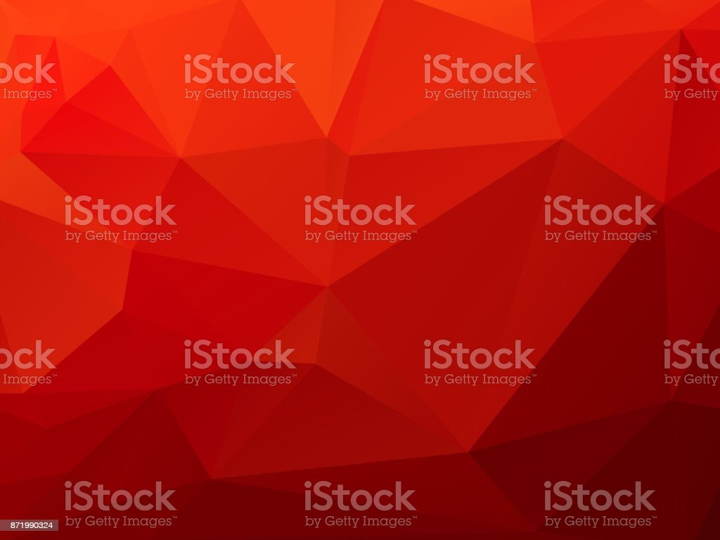 Christmas polygonal red background vector art illustration
