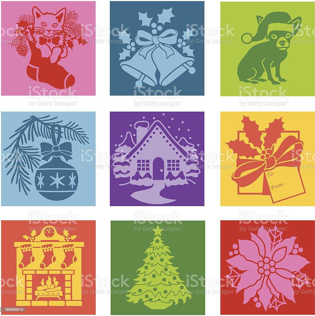 Christmas Pop Art Icons Royalty Free Stock Vector Amp