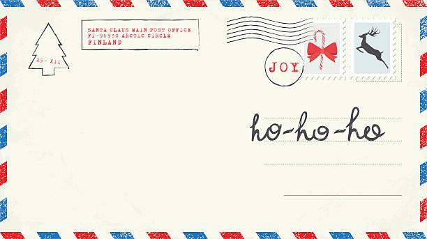 weihnachts-postkarte - wunschkinder stock-grafiken, -clipart, -cartoons und -symbole
