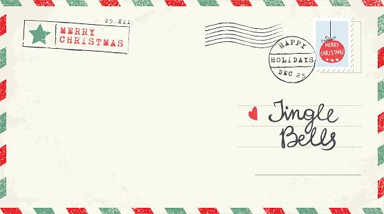 Christmas Postcard clipart