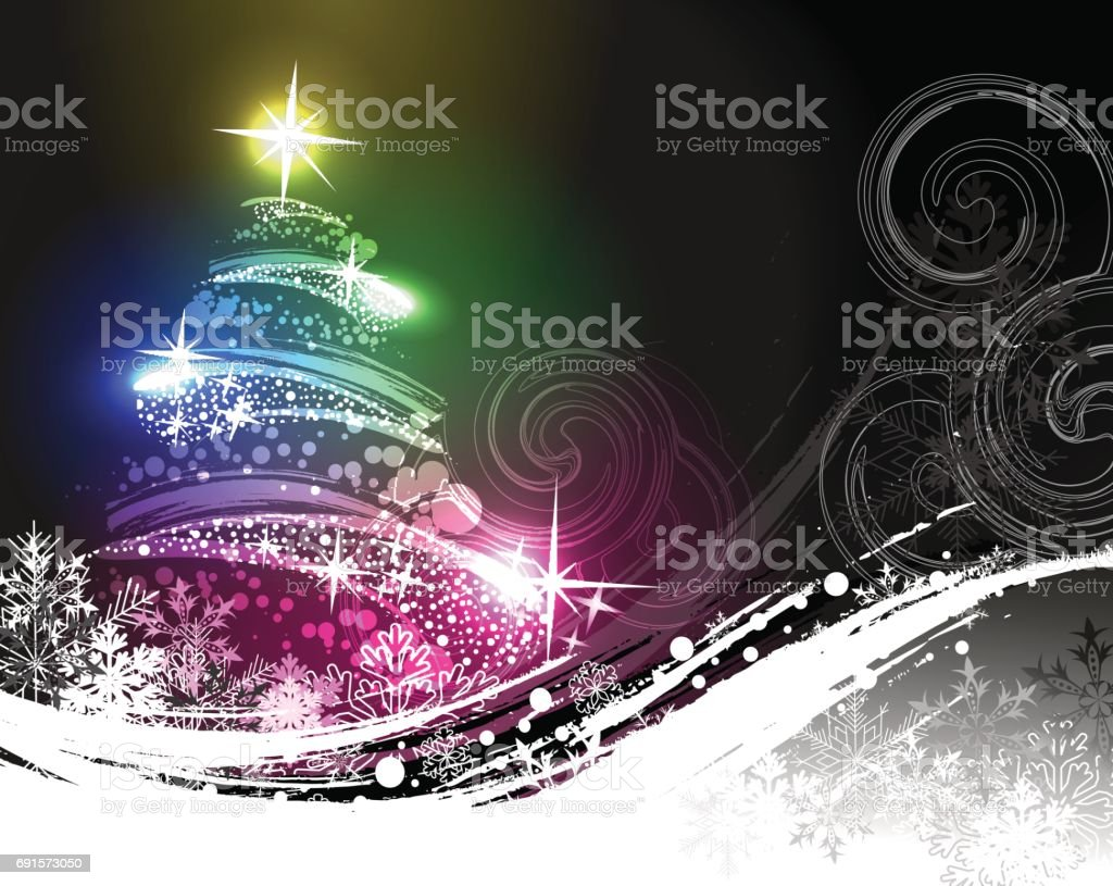 Christmas postcard vector art illustration