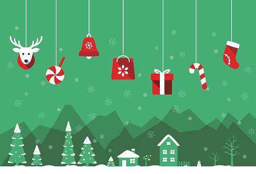 Christmas poster, greeting card design