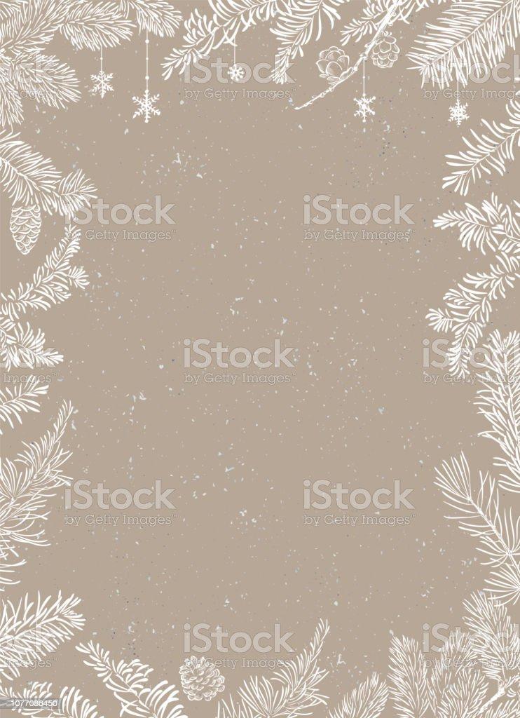 Christmas affisch - Illustration. Vektorillustration av jul bakgrund - Royaltyfri Abstrakt vektorgrafik