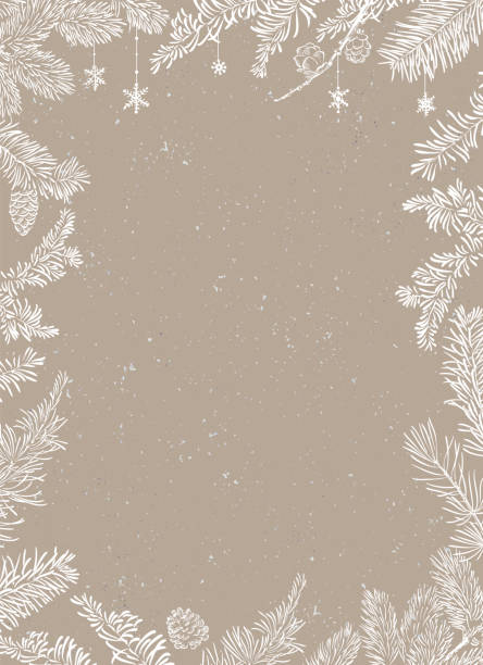 Christmas Poster - Illustration. Vector illustration of Christmas Background Christmas Poster - Illustration. Vector illustration of Christmas Background with branches of christmas tree. holiday background stock illustrations