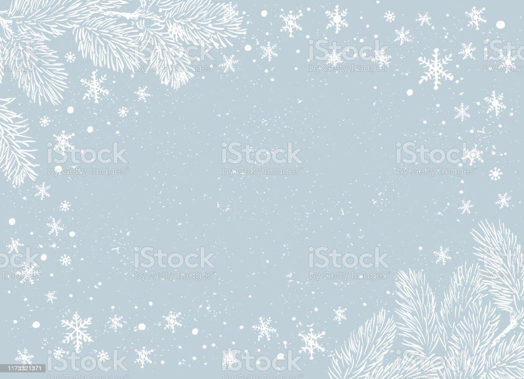 Рождественский плакат - Иллюстрация. Векторная иллюстрация Рождественского фона - Векторная графика Ёлочные игрушки роялти-фри