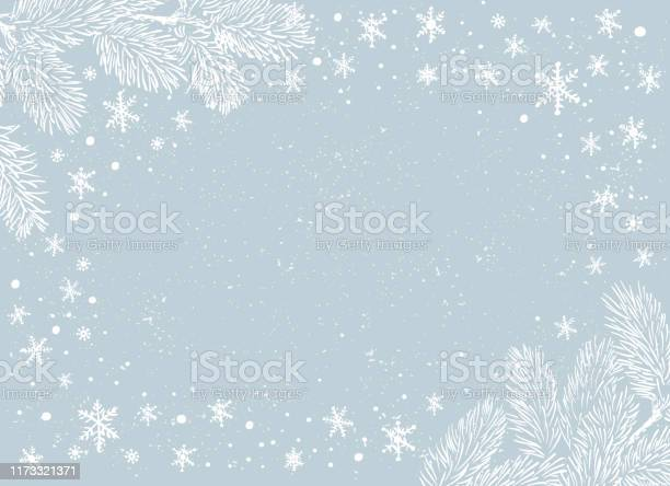 Рождественский Плакат Иллюстрация Векторная Иллюстрация Рождественского Фона — стоковая векторная графика и другие изображения на тему Ёлочные игрушки