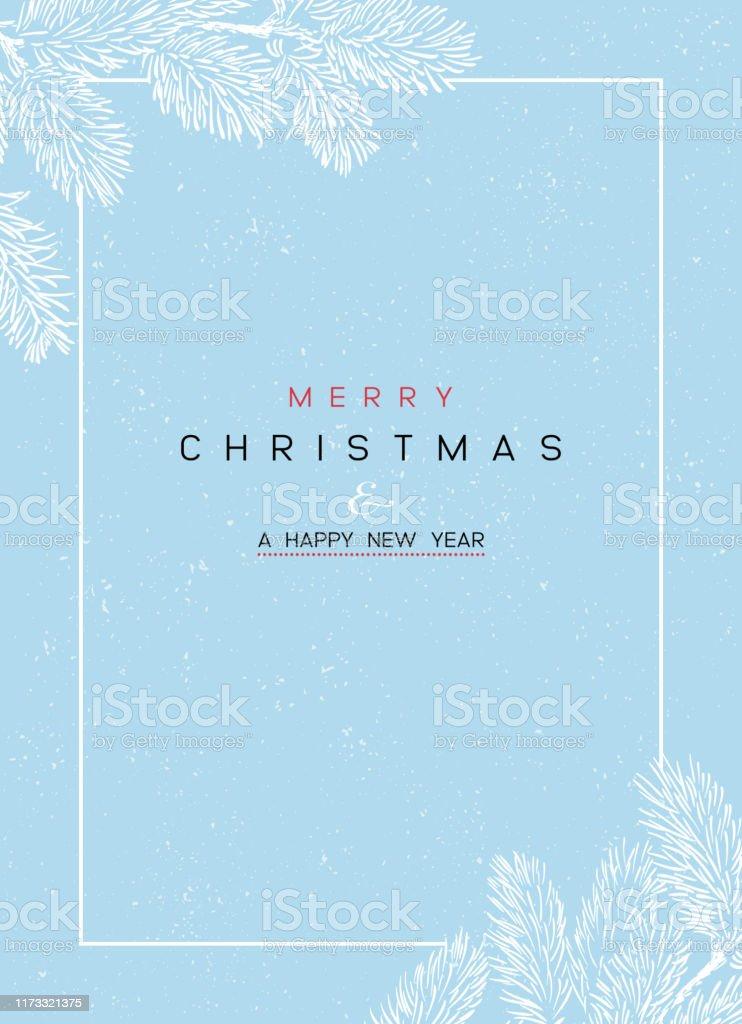 크리스마스 포스터 - 일러스트레이션. 크리스마스 배경의 벡터 그림 - 로열티 프리 겨울 벡터 아트