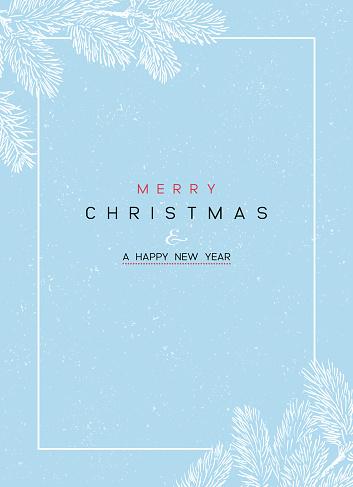 Christmas Poster - Illustration. Vector illustration of Christmas Background