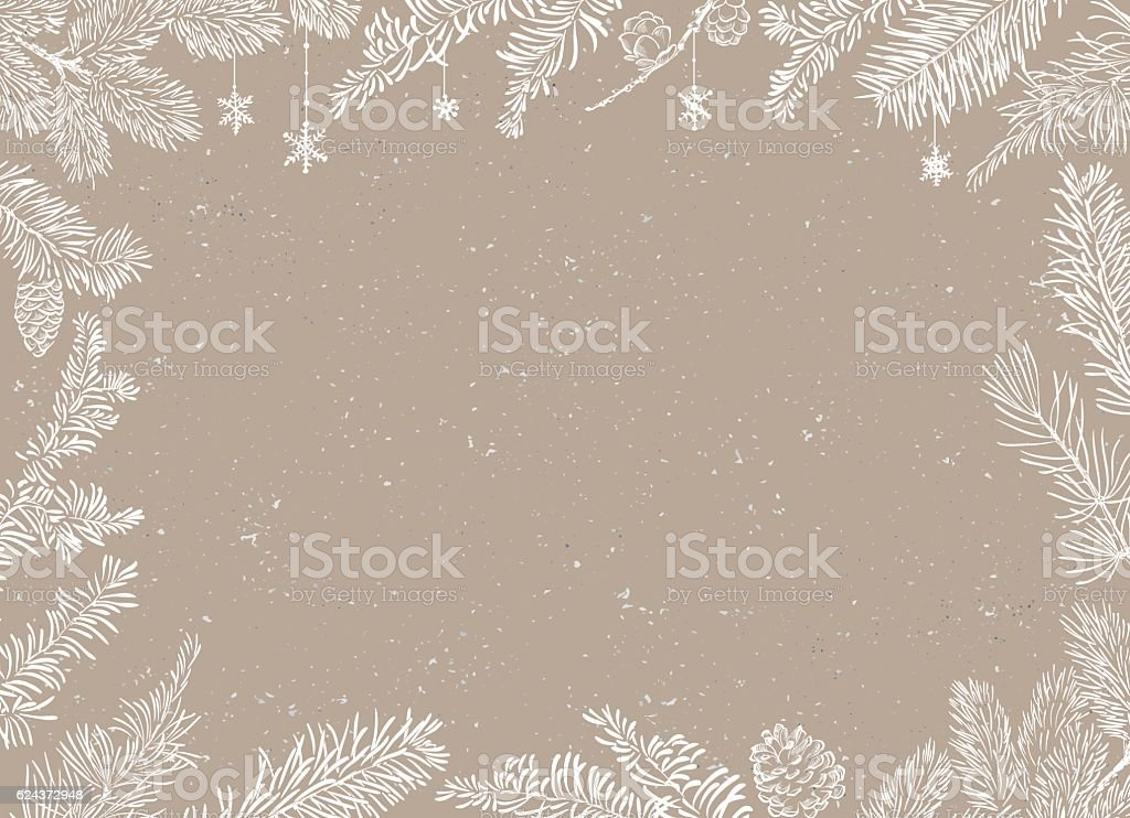 Christmas Poster - Illustration. Vector illustration of Christmas Background vektör sanat illüstrasyonu
