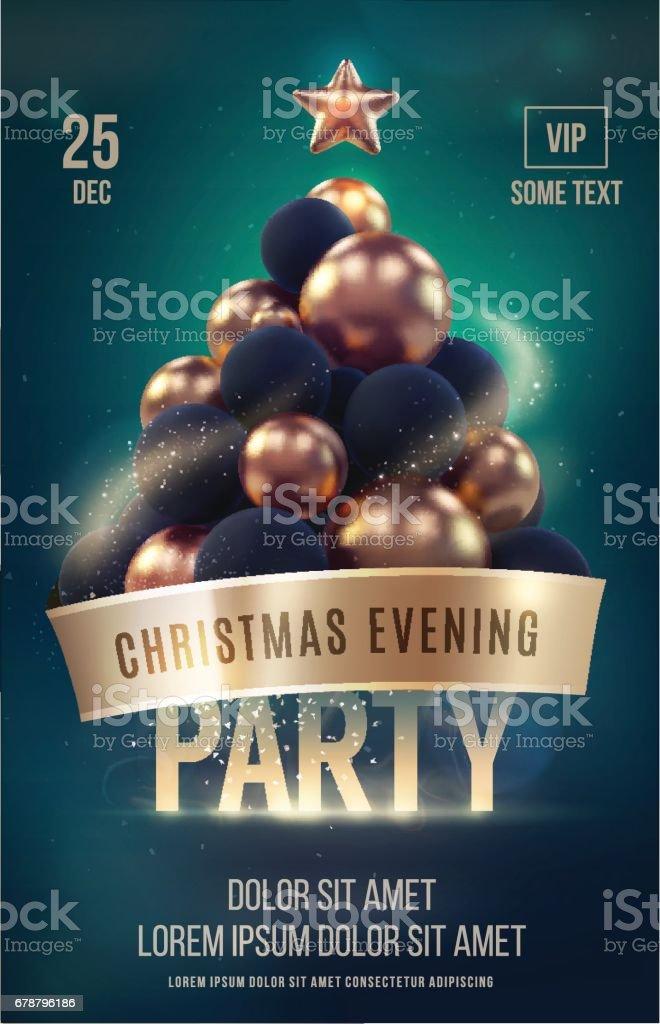 Modèle affiche ou flyer de Noël avec sapin de Noël or modèle affiche ou flyer de noël avec sapin de noël or – cliparts vectoriels et plus d'images de abstrait libre de droits