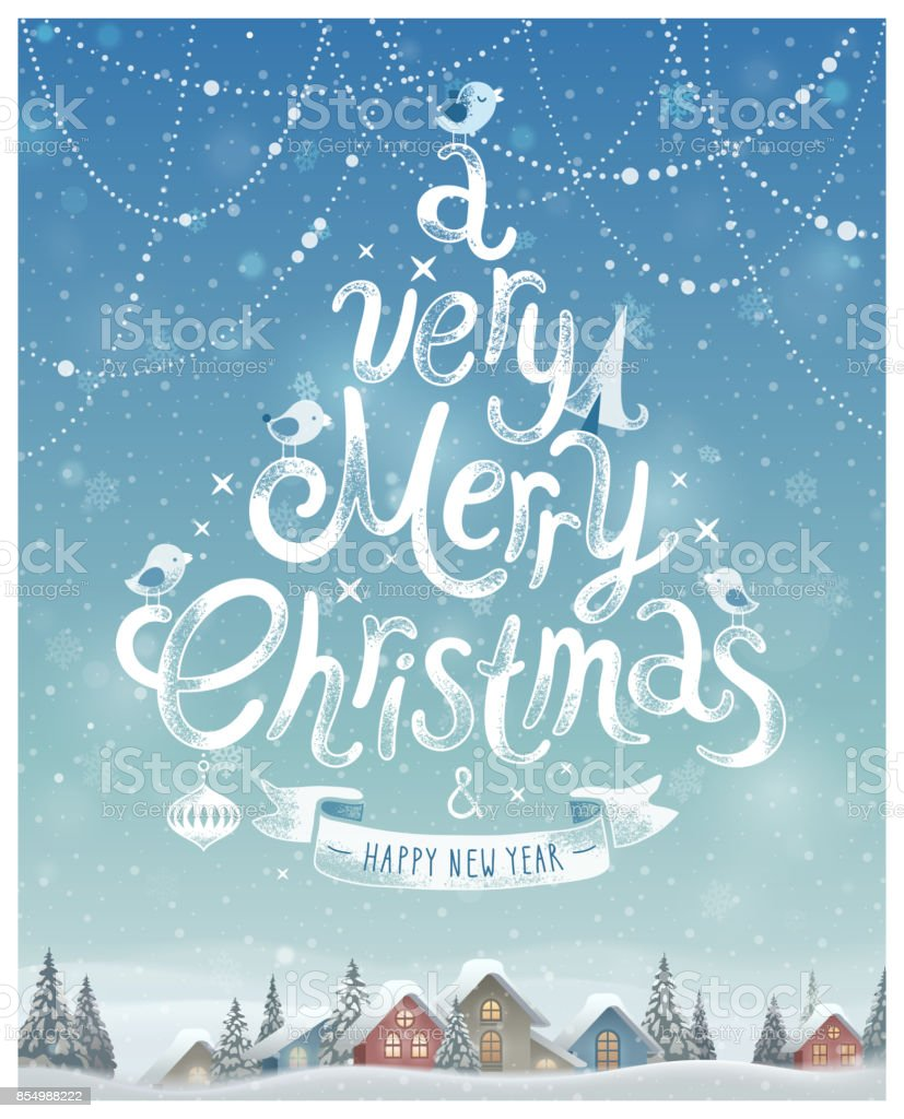 Christmas Poster. Vector illustration. vector art illustration
