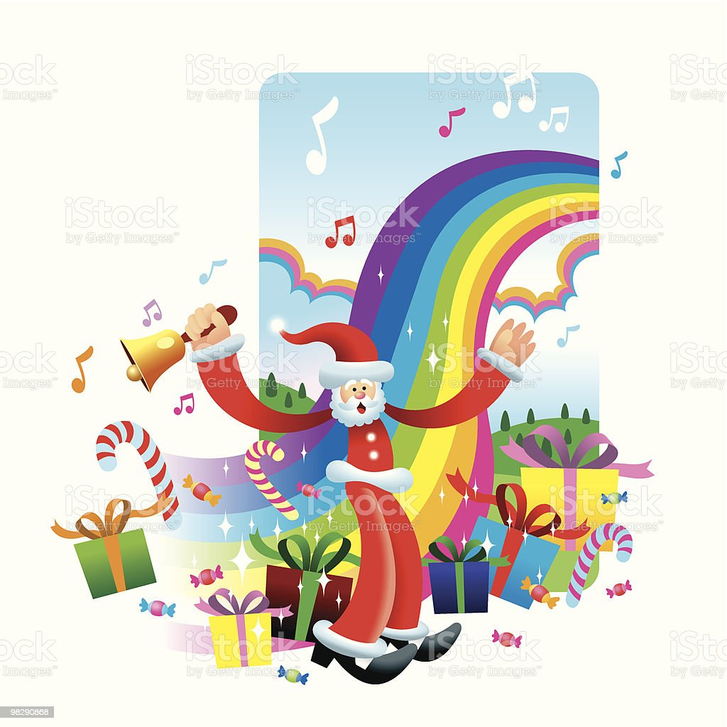 Christmas Present and Candy Rainbow royalty-free christmas present and candy rainbow stock vector art & more images of bell