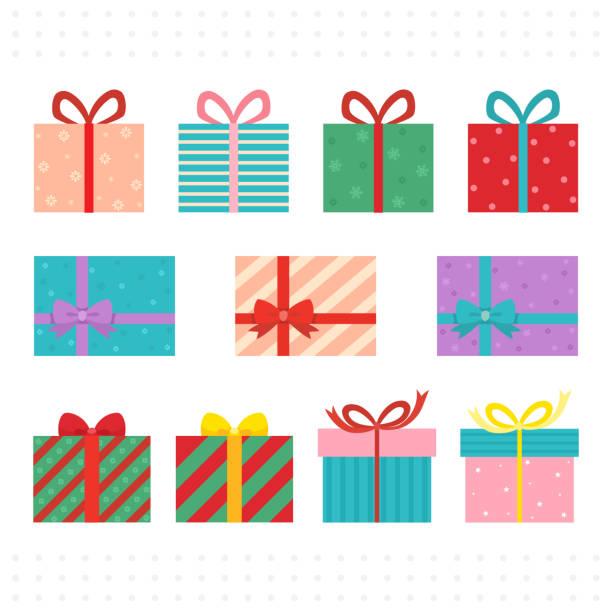 weihnachten geschenk geschenkbox - weihnachtsgeschenk stock-grafiken, -clipart, -cartoons und -symbole