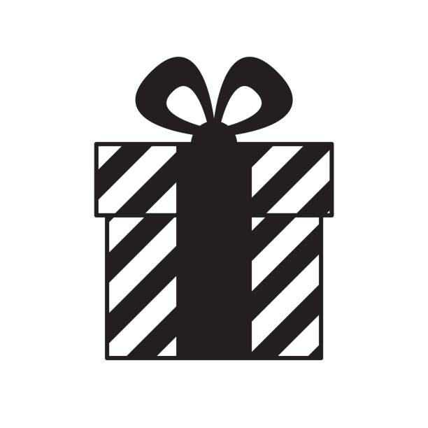 Best Black And White Gift Boxes Illustrations, Royalty ...