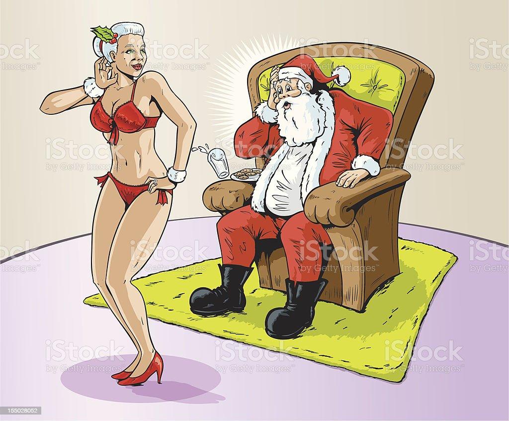 Christmas present vector art illustration