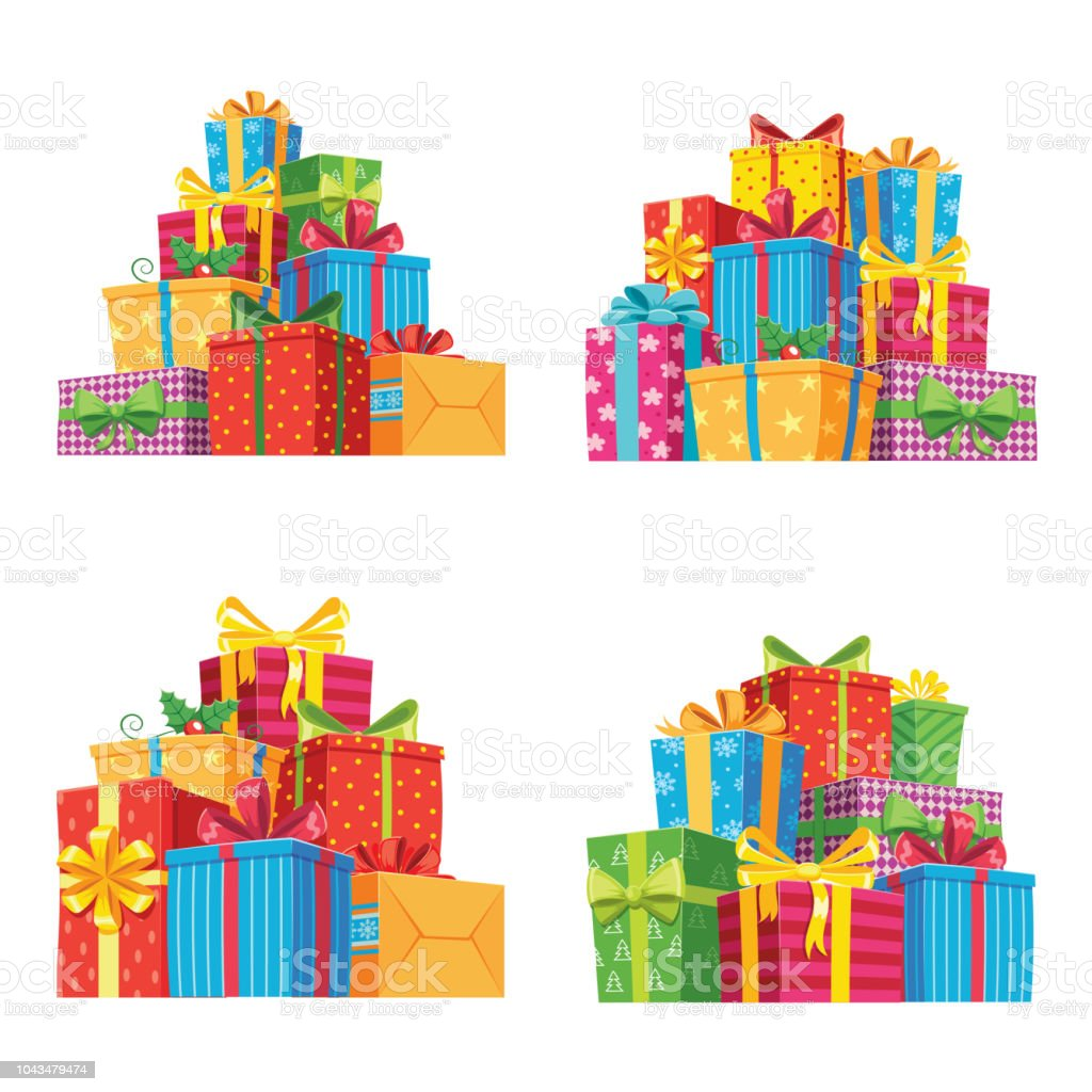 Christmas Presents In Gift Boxes Birthday Present Box Xmas