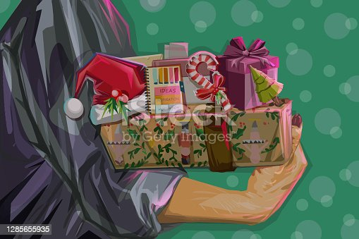 istock Christmas presents preparation and wrapping 1285655935