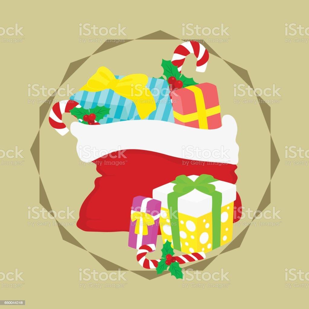 Weihnachtsgeschenke Sack.Weihnachtsgeschenke Sack Vektor Stock Vektor Art Und Mehr Bilder Von