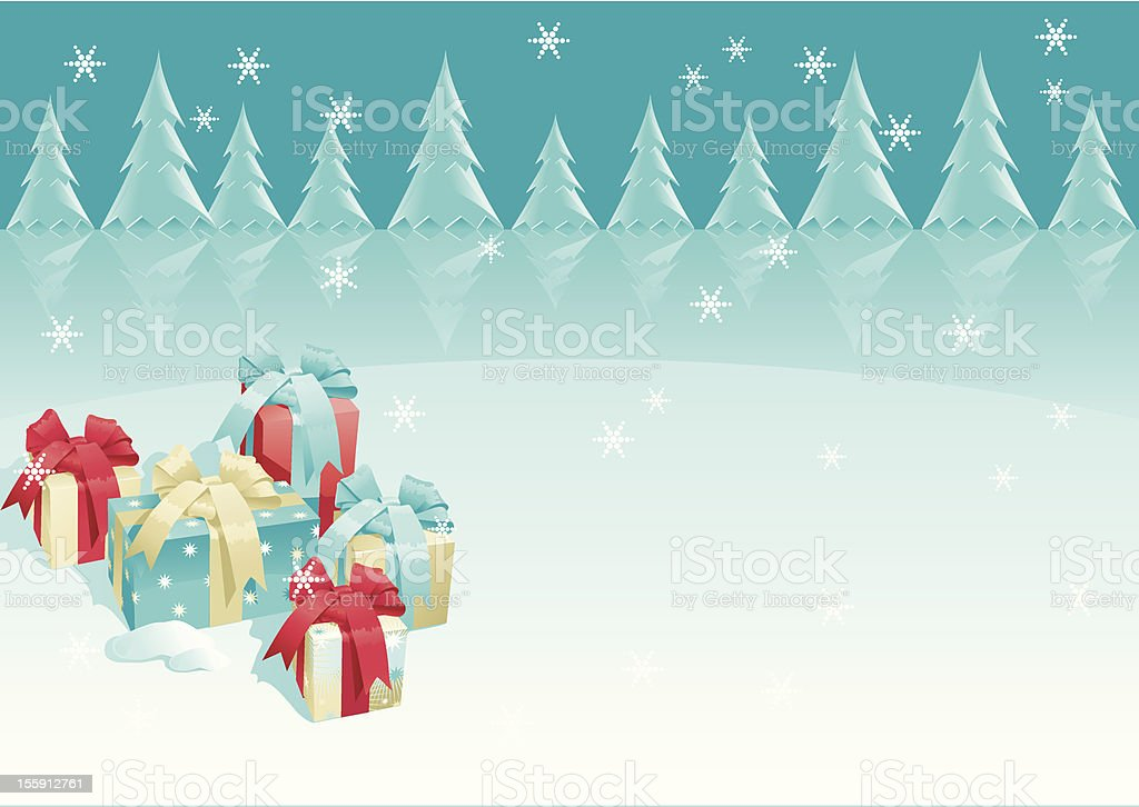 christmas presents royalty-free stock vector art