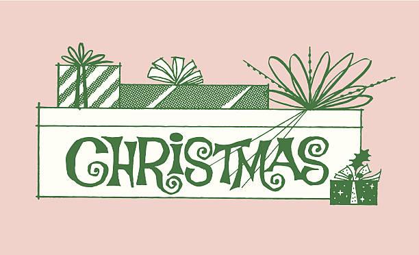 Christmas Presents Christmas Presents kitsch stock illustrations