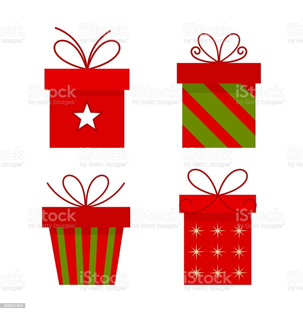 Christmas Presents Vector Stock Vector Art & More Images of Box ...