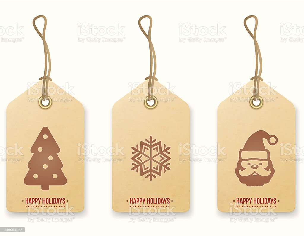 Christmas price tag. Vector vector art illustration