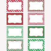 Christmas Printable Labels Set.Tags,Scrap booking,Card Making, Invitation.