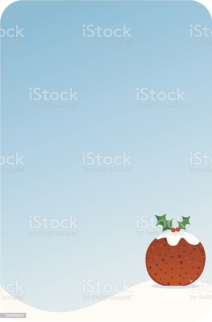 Christmas Pudding Background royalty-free stock vector art