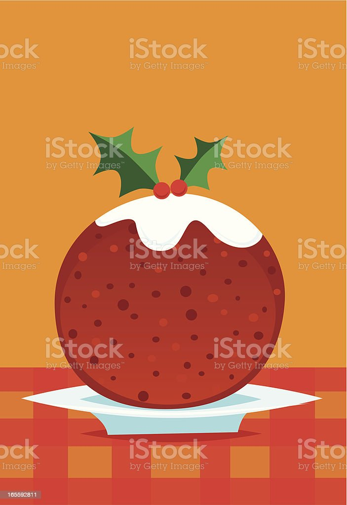 Christmas pudding royalty-free stock vector art