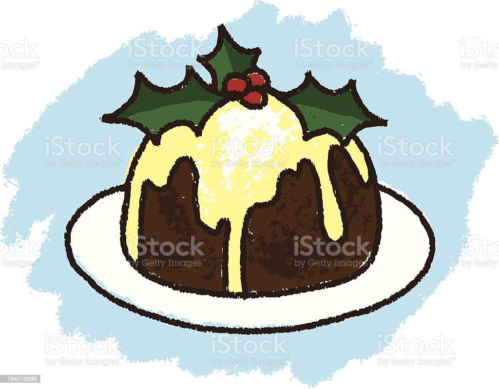 Christmas Pudding royalty-free stock vector art