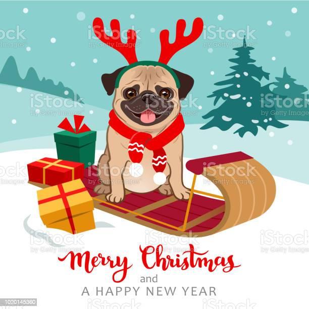 Christmas pug dog cartoon illustration cute pug puppy wearing red vector id1020145360?b=1&k=6&m=1020145360&s=612x612&h=icokbada5 cvts6qcyihmiidipfmlu862ekjshz7ids=