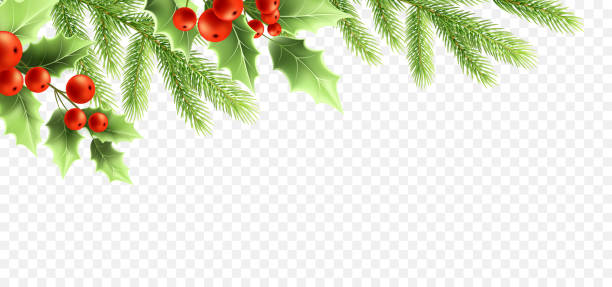 christmas realistic decorations banner design. - christmas decoration stock illustrations