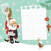 Christmas recipe. Santa Claus chef