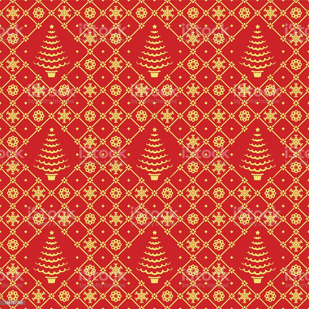 Christmas red and gold seamless pattern royalty-free stock vector art