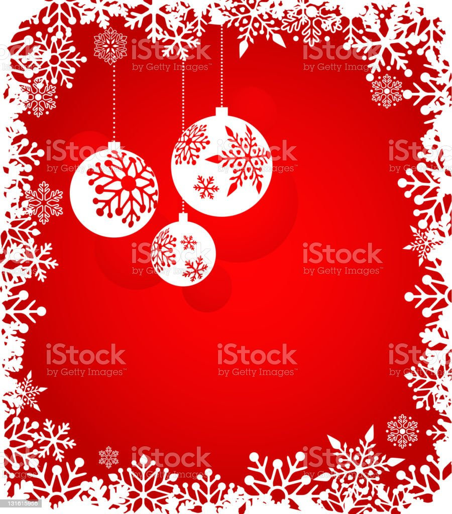 Christmas red background royalty-free stock vector art