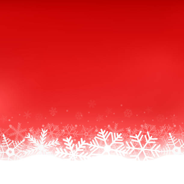 Christmas red background with snowflakes Christmas red background with snowflakes white illustration backgrounds clipart stock illustrations