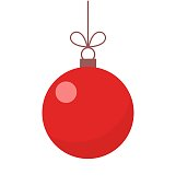 Christmas red ball ornament