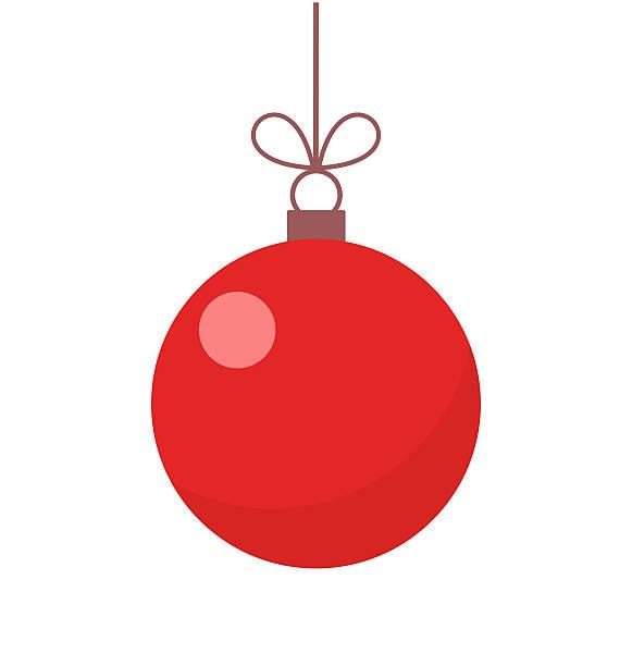 Christmas red ball ornament Christmas red ball ornament illustration christmas ornament stock illustrations
