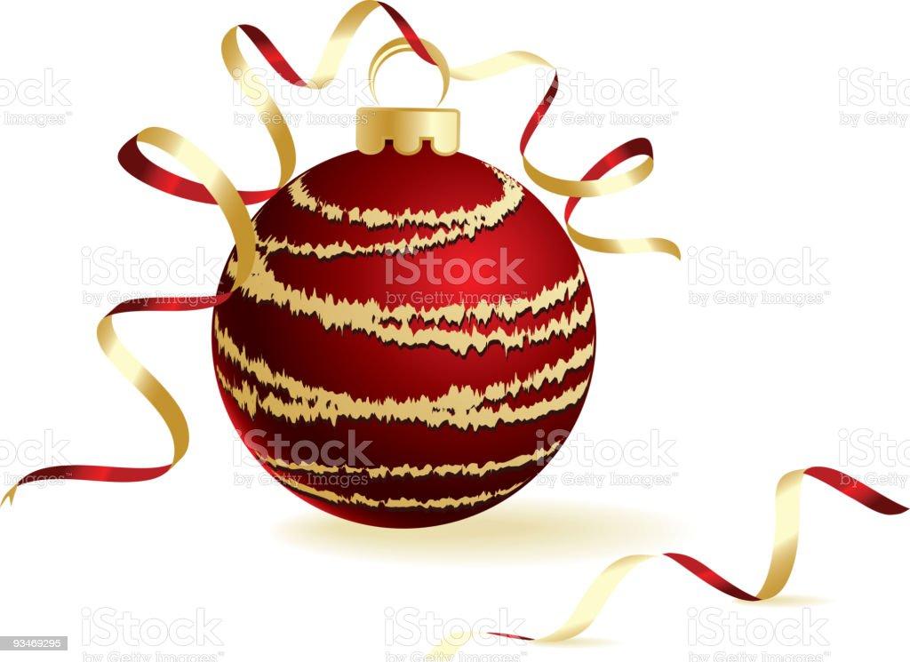 Christmas red ball royalty-free stock vector art