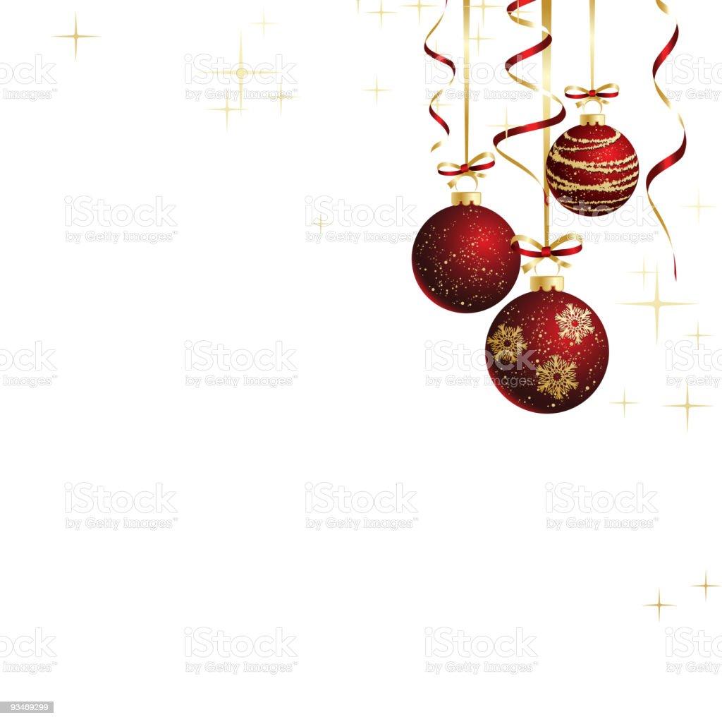 christmas red balls and ribbon royalty-free stock vector art