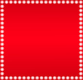 Vector Christmas Red Color Background With Snowflakes Frame