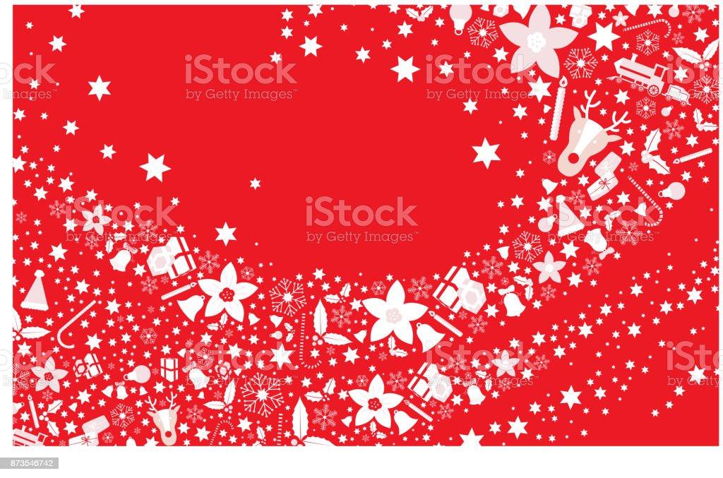 Christmas red postcard greeting vector art illustration