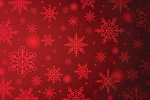 USA, India,  Christmas, Snowflakes, Red, Abstract, New Year, Abstract Backgrounds